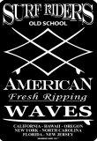Surf Riders Old School Plaque en métal