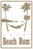 Beach Bum Blechschild