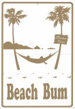Beach Bum Tin Sign
