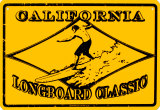 California Longboard Classic Tin Sign
