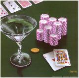 Poker Chips Big Slick Posters par Michael Godard