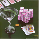 Poker Chips Big Slick Poster von Michael Godard