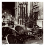 Cafe, Avignon Prints by Alan Blaustein