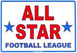 All Star Football League Tin Sign