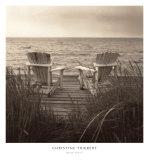 Chaises longues à la plage Affiches par Christine Triebert