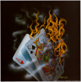 Burning Blackjack Art par Michael Godard
