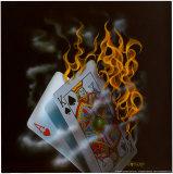 Burning Blackjack Kunst av Michael Godard