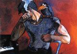 Ritratto di Tom Waits, 1986 Print by Andrea Pazienza