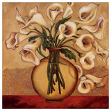 White Autumn Lilies Posters by Shelly Bartek
