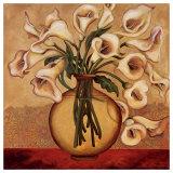 White Autumn Lilies Prints by Shelly Bartek