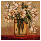 White Autumn Magnolias Prints by Shelly Bartek