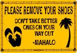 Please Remove Your Shoes Blikkskilt