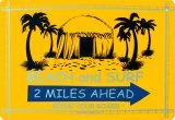 Beach And Surf 2 Miles Ahead - Metal Tabela