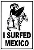 I Surfed Mexico Plaque en métal