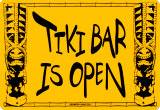 Tiki Bar Is Open Cartel de chapa