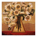 White Autumn Poppies Posters by Shelly Bartek