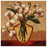 White Autumn Orchids Prints by Shelly Bartek