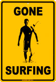 Gone Surfing Emaille bord