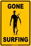 Haciendo surf Cartel de chapa