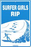 Surfer Girls RIP Tin Sign