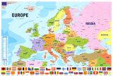 Mappa dell'Europa Poster