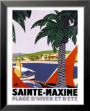 Sainte-Maxime Posters by Roger Broders