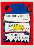 Joan Miró - Terres De Grand Feu - Koleksiyonluk Baskılar