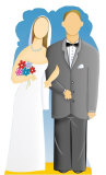Wedding Couple Cardboard Cutouts