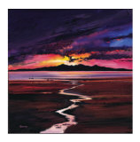 Sunset Over Arran Limited Edition by Davy Brown