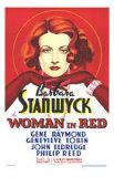 Woman in Red, Barbara Stanwyck, Art Print