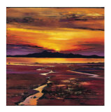 Fading Sun, Arran Collectable Print by Davy Brown