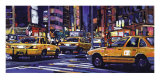 Yellow Cabs, New York City Print by Roy Avis