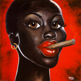 Chocolat Noir Poster por Sandra Knuyt