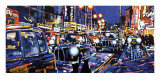Black Cabs, London Kunstdruck von Roy Avis