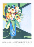 Peonaes & Tulips, 1991 Collectable Print by Françoise Gilot