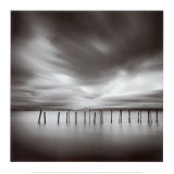 Twenty Sticks, Kohoku, Honshu, Japan Plakater af Michael Kenna