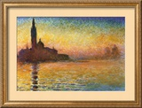 Sunset In Venice Prints by Claude Monet