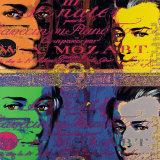 Mozart I Posters par Günter Edlinger