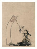 Man Climbing Kite Prints