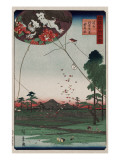 View of Akiba and Fukuroi Kite Prints by Ando Hiroshige