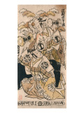 Sawamura Sojuro I and Ichimura Takenojo Dancing with a Tsuzumi Prints by Shigenaga Nishimura