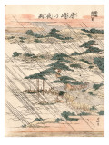 Night Rain on Karasaki Pine Kunstdrucke von Katsushika Hokusai