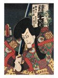 Flower of Secret Biwa Notes: Matsunami Kengyo, in Fact Aku Hichibei Art by Kunisada Utagawa