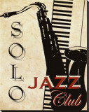 Solo Jazz Club Stretched Canvas Print by Kelly Donovan