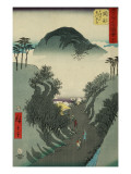 Okabe, from the Fifty-Three Station of the Tokaido Road Prints by Ando Hiroshige