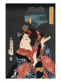 Famous Places in Edo: Ai No Uchi Matched to Oshichi Prints by Kuniteru Utagawa