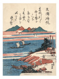 Maritime Landscape in Blue and Red Prints