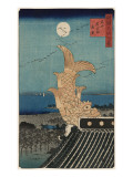 Ornamental Roof Prints by Ando Hiroshige