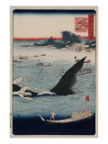 Whale Hunting at Goto in Hizen Province Art by Ando Hiroshige