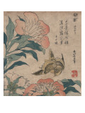 Peony and Canary, circa 1825 Affiches par Katsushika Hokusai
